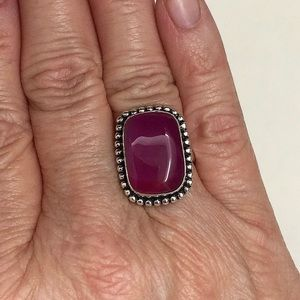 Jewelry - ♥️ DEEP DARK MAGENTA s925 BOTSWANA RING, GORGEOUS